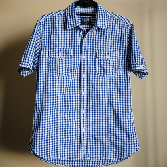 Calvin Klein Other - Calvin Klein Jeans Men's Short-Sleeve Plaid Shirt